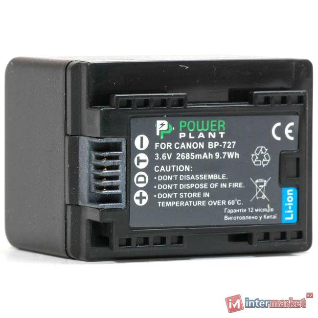 Аккумулятор PowerPlant  Canon BP-727 Chip 2685mAh