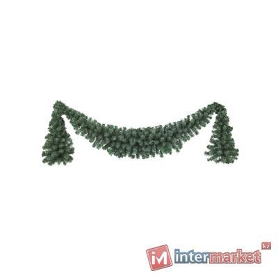 Гирлянда еловая 1,8м+2х0,6м зеленая Ламбрекен