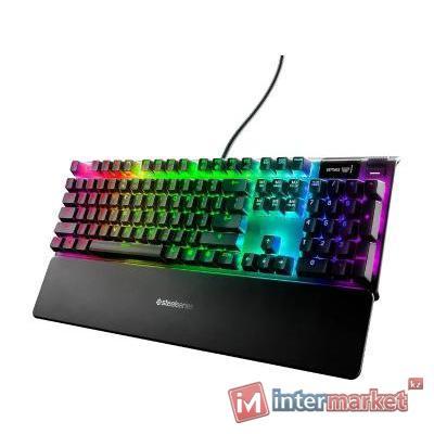 Клавиатура, Steelseries, Apex 7 (Red Switch) US, 64636 Игровая, Механические клавиши QX2, USB, Подсветка RGB, Размер: 16037035 мм., Анг/Рус, Чёрный