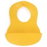 Нагрудник пластиковый мягкий Happy Baby Soft children's bib Lemon
