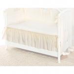 Подматрасник Perina декоративный для детской кроватки Молочный