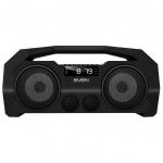 Портативная акустика SVEN PS-465, черный, акустическая система 2.0, Bluetooth, FM, USB, microSD, LED-дисплей /